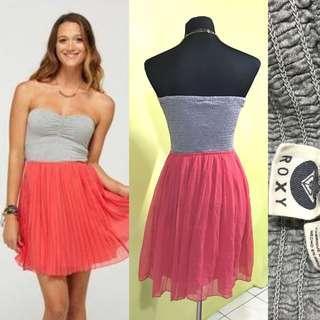 Peach and grey tube tutu dress