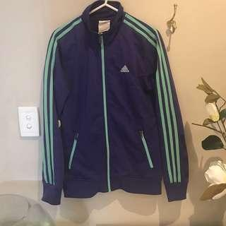 Adidas purple and green jacket