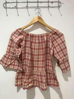 Blouse Flanel Pink