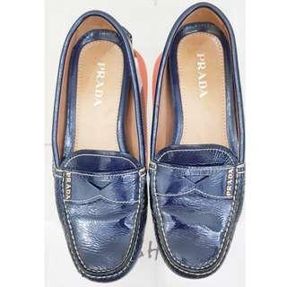 Prada Loafers Leather flat shoes