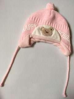 🚚 95成新 baby 粉紅毛帽
