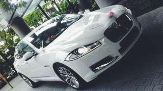 👰🎩 30+ Wedding Cars! -  White Jaguar XF Wedding Car Rental