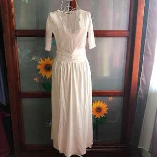 White Lace dress size S