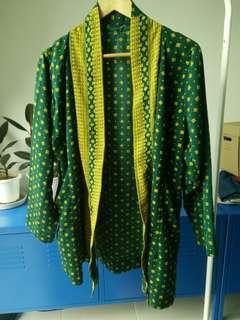 Green Kimono Cardigan