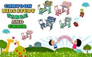CARTOON KIDS STUDY TABLE AND CHAIR