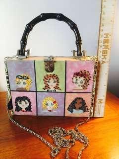 ❤️free❤️ retro vintage mini box bag / makeup box sling bag