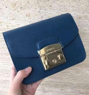 Authentic Furla Metropolis in Navy Blue