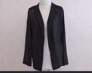 Cardigan black with collar
