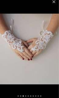 Ivory Lace wedding gloves *BN*handmade in Europe*