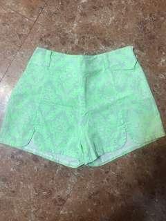 瑩光綠色褲