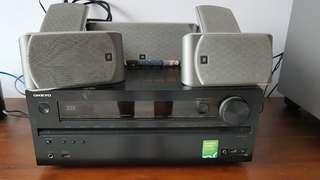 7.1 channel surround system Onkyo TX-NR616 & JBL speakers