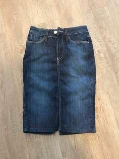 Guess long cutting skirt jeans