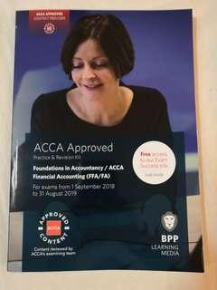 Latest version. Acca BPP f3 financial accounting revision kits