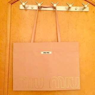 名牌紙袋 Miu miu paper bag