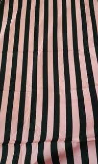 Pink & Black Strip fabric