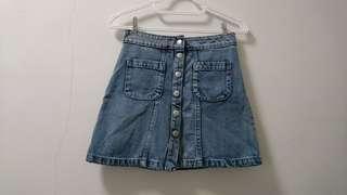 Factorie Button Up Denim Skirt