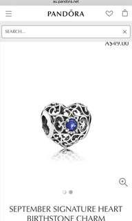 Pandora September birthstone charm