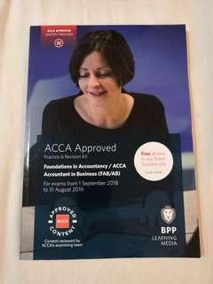 Latest version. Acca bpp f1 accounting in business revision kits
