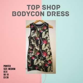 Top shop bodycon dress