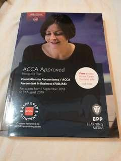 Acca bpp f1 accounting in business textbook