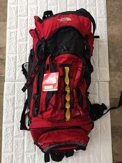 Northface 100 L mountaineer backpack with detachable 20 L beltbag