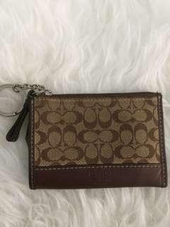 Orig Coach monogram coin purse