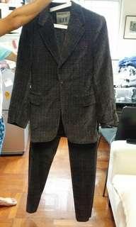 Made in Italy 名牌GFF絨布西裝套裝