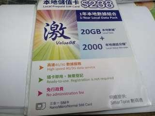 ValueGB $238 local sim card (New)