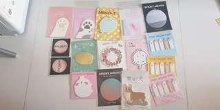 $1 MAILED! cute post it notes sticky notes notepad