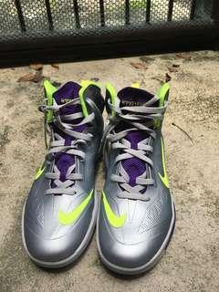 Nike Hyperfuse Violet and Neon Green