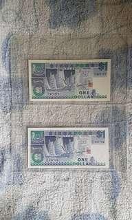 Singapore banknotes