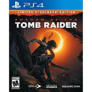 PS4 Shadow Of The Tomb Raider Steelcase Edition