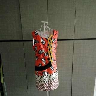 Brand inspired silk dress