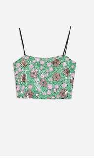 BNWT Topshop flower Sequin cami top
