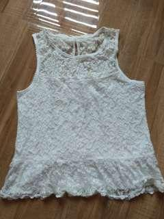 Abercrombie and Fitch white sleeveless
