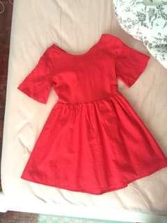 Stylenanda Open Back Bow Dress