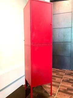 IKEA Stackable Metal Storage/Cabinet (Red)