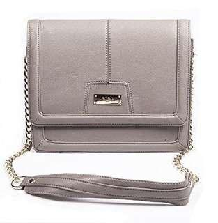 BNWOT BCBG Paris Chic Story Crossbody Clutch in TAUPE