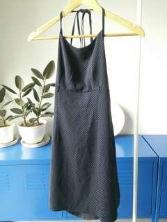 Vintage Halter Neck Polkadot Mini Dress