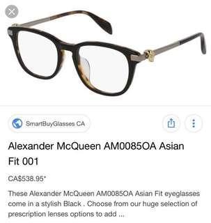 Alexander McQueen glasses 👓