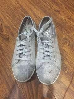 Keds gray shoes size 5