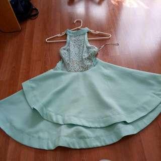 Green Dotti Dress