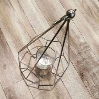 Geometric Tealight / Glass Candle Holder