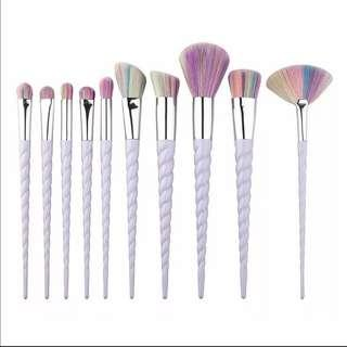 (FREE NORMAL MAIL) Ready Stocks 10pcs Unicorn Makeup Brushes