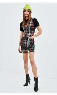 New arriv checked pinafore