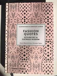 Fashion Quotes Book