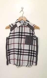 Unica hija checkered top