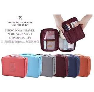 korean travel toiletries pouch organiser