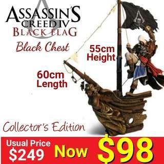 "Assassin Creed Black Flag Chest Set figurine ( debundled from PS3 Assassin Creed Black Flag Collector""s Edition) . (Brand New in Original Chest box & Sealed - Figure only ) Usual Price  $249 Now : $98. Last piece left"