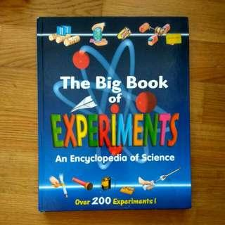 big book of science experiments over 200 hard cover good condition